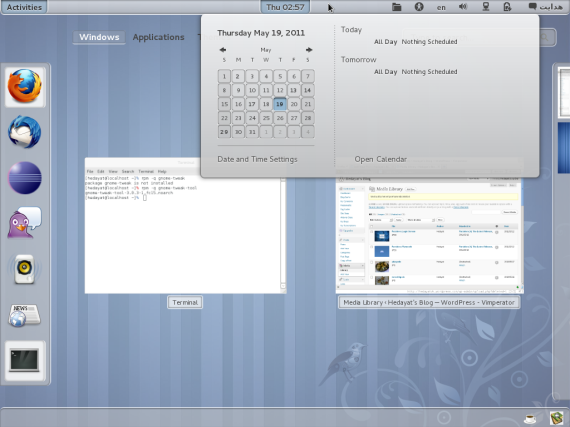 GNOME 3 screenshot with a non-default theme